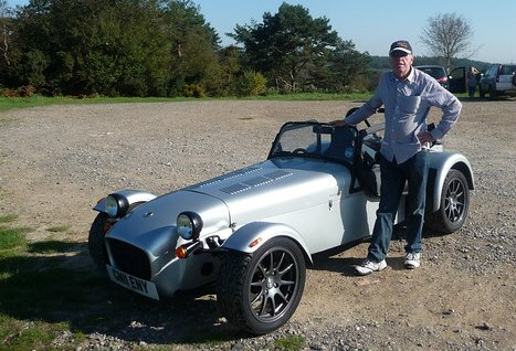 Steve with a rented Caterham 7